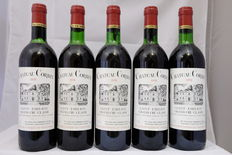 1978 Chateau Corbin, Saint-Emilion Grand Cru Classe, France, 5 Bottles.