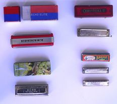 Lot of 5 Vintage Hohner Harmonicas-1930's