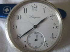 "Longines ""800"" silver pocket watch, early 1900s"