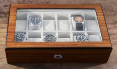 Zebra Wood Finish Watch Box - in new condition