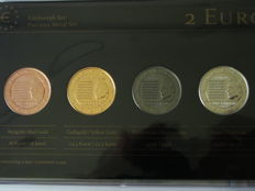 Luxembourg - 2 Euro 'National Anthem' 2013 (4 different plated coins) - Precious Metal Set