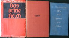 Third Reich; Lot with 3 books about the rise of Hitler and national socialism - 1931/1937