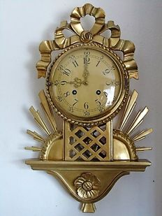 Gold-plated Cartel wall clock - Sweden - 2nd period 1900