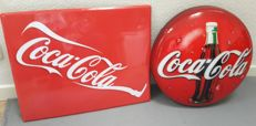 Lamp and sign - Coca Cola - 2nd half of 20th century