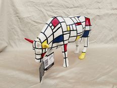 "Jon Eastman cowparade - ""Moondrian"" decoratie koe large (28 cm)"