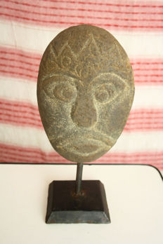 A face carved in stone - Java Island - Indonesia