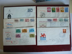The Netherlands 1952/1953 – Selection of FDCs and cover Centenary stamp