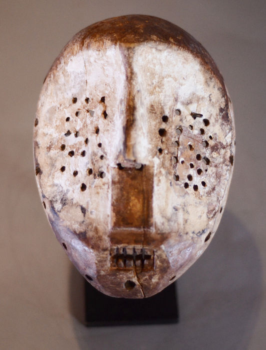 African Tribal LULUA Circumsision mask. Democratic Republic of the Congo.