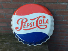 Decorative old cans of Pepsi Advertising sign - circa 1970