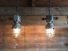 Unknown designer - 2 cool, large, industrial lamps