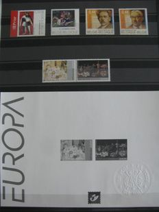 Belgium – year packs 2005 and 2006 – OBP 3348 to 3598 – with BL 118 to 137