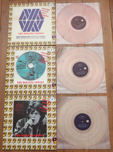 The Rolling Stones- Concert Special Seg 1, Seg 2 & Seg 3 Bridges to Babylon - US Tour 1998/ complete set of 3 limited numbered lp's on coloured wax/ NEAR MINT