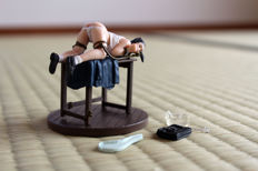 Figurine; Ero-Pon Series: Schoolgirl tied over a table - 21st century