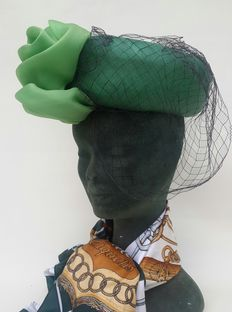 Ginny Milano – hat with veil – Circa 1940s-1960s