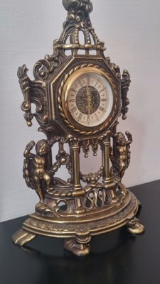 Original Mercedes table clock from around the first half of the 20th century