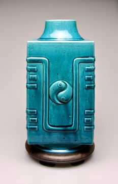 Fine Turquoise Glazed Vase - China - 19th Century.
