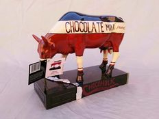 "Judy K. Tuckness cowparade - ""Chocoholic Cow"" - decoratie koe large (28 cm)"