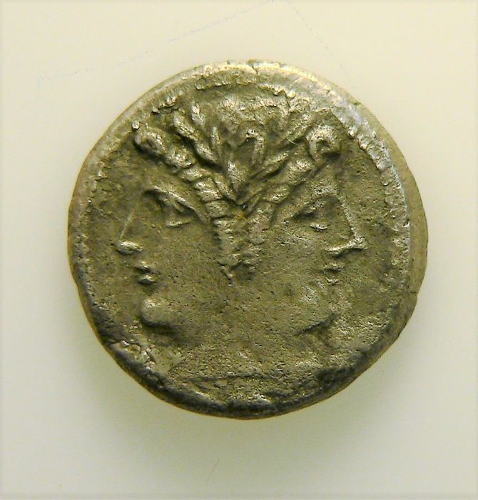 Roman Republic - anonymous -  Quadrigatus or didrachm - post 215 BC - certified