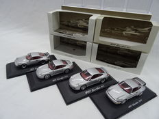 Minichamps - Scale 1/43 - Porsche 911 Turbo Set: 4 x Porsche 1976, 1991, 1997 & 2000
