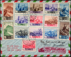 San Marino, 1949, Landscapes + 1950 Airmail, aerial views, 2 UNC used
