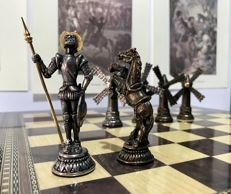 Quixote chess - gold edition with collection of sheets