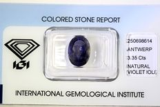 Iolite - 3.35 ct - No reserve price