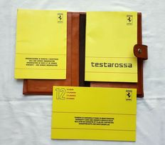 Set of Ferrari Testarossa manuals - year 1988 + Pouch
