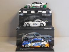 Minichamps - Scale 1/43 - Lot with 3 German sport car models: Audi, BMW & Opel