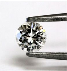 1 diamond - GIA certificate - Brilliant cut - 0.56 ct - G / SI2