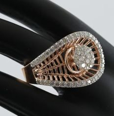 IGI Certified Yellow Gold 1.00 ct. Designer Diamond ring