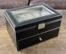 Faux Leather Watch Box - in new condition