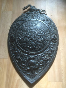 Cast Ornate French Shield - Second half 19th century