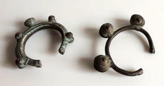 West Africa - Lot of 2 bronze bracelets or torques - circa 1950