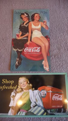 Two coca cola advertising posters - origin France