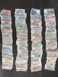 World - Collection of approx. 400 banknotes from around the world