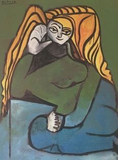 Pablo Picasso (after) - Femme au pull vert