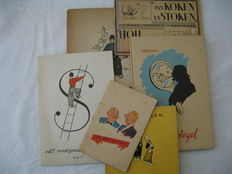 Caricature; Lot with 6 satirical publications - 1944/1945
