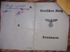 AUSWEIS (ID karte) WW2 period, at 1 1/2 mounth after war is end....very RARE! item
