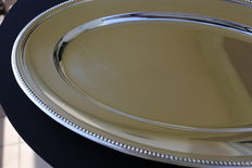 Christofle - Oval Platter, beaded edge - 1970