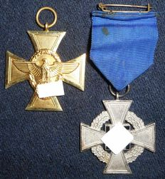 Police Service Award for 25 years of service + Award for 25 years of faithful service