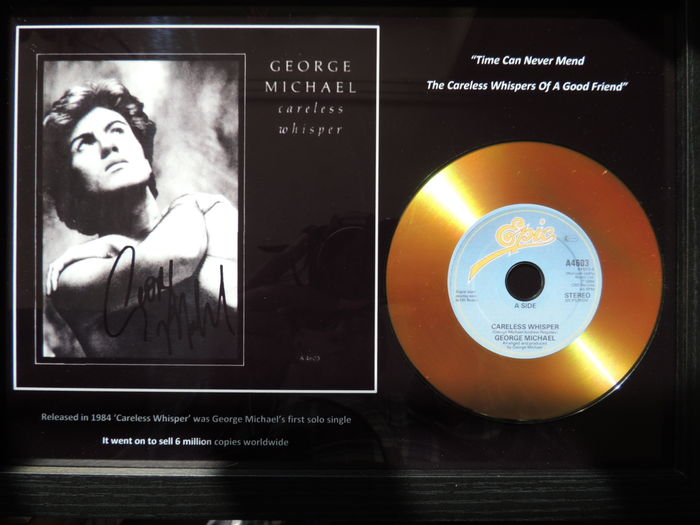 Stunning George Michael  - Memorial Signed Picture Gold Disc Framed