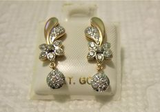 Diamond earring , 1 ct total 18k +++ Low reserve +++