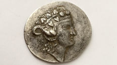Greek Antiquity - Thrace. Thasos  AR Tetradrachm (15.33 g., 36mm.), after 146 BC./ very well centered and excellent metal quality extremely fine.