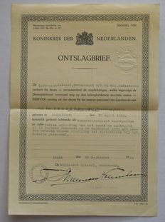 Dutch army before 1940; various military documents from the 1920s