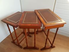 English mini set with leather table top, England, 2nd half of 20th century
