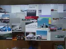 1966 - 2011 - AUDI 80, 100, 200, Coupé, TT concept, TT Roadster, S8, S6, S4, Cabriolet, A8 quattro, A4, A6, RS4 Cabriolet, A1, A6 Exclusive, etc etc - Mixed lot of 36 original sales brochures