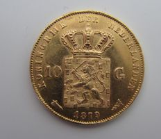 The Netherlands – 10 guilder coin 1879 Willem III – gold.
