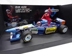 Minichamps - Schaal 1/18 - Benetton Renault - M. Schumacher - Jean Alesi 1st Grand Prix Victory - Canada, 11th of June 1995