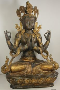 Large statue bronze - Avalokiteshvara - China - end 20th/21st century