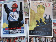 """200 pictures; Lot of 160 original pictures of the 1936 Olympics in Germany, interwar period, and 40 pictures of WW2 """"The German Wehrmacht"""""""
